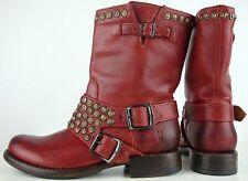 FRYE Jenna Studded Biker Boots Stiefelette Stiefel Schuhe Nieten Gr.38,5 NEU
