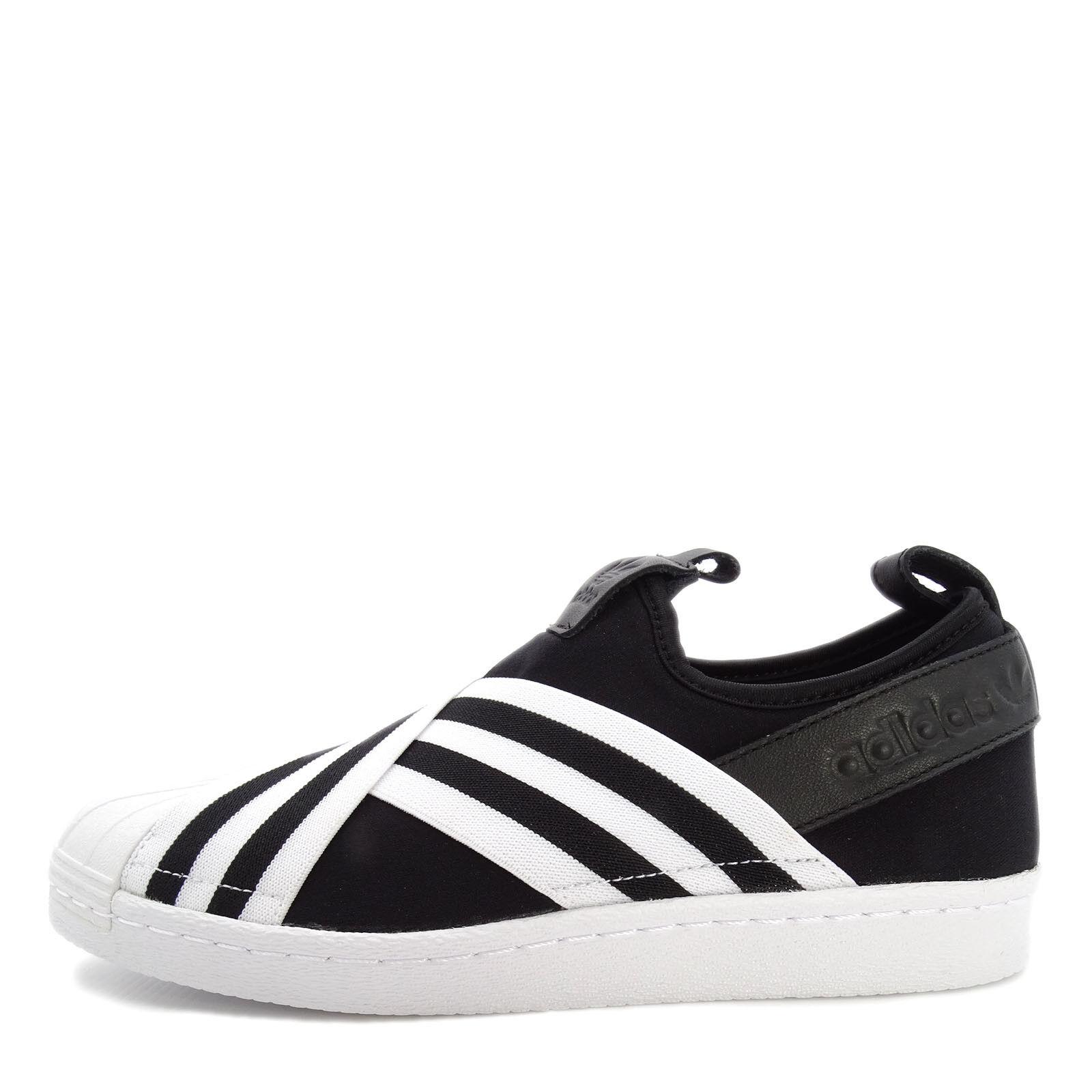 Adidas Originals Superstar Slipon W [AC8582] Women Casual shoes Black White