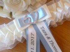 BRAND NEW PERSONALISED WEDDING GARTER/HEN GARTER WHITE/IVORY + CHOICE OF COLOURS