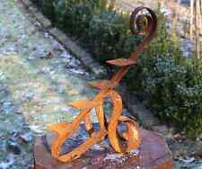 014 EDELROST DESIGN Teelichthalter Kerze Fackel UNIKAT Skulptur Rost Gartendeko