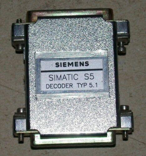 SIEMENS Simatic S5 Dongle Stecker Decoder Typ 5.1