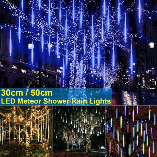 ✅LED Meteor Shower Lights 30//50CM Falling Rain Drop Christmas Party Lamp Outdoor