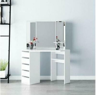 Modern Corner Dressing Table Vanity Desk Makeup Table Set ...