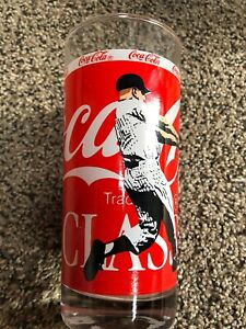 "Vintage Mickey Mantle Yankees COCA-COLA CLASSIC 6.5"" MLB Baseball Coke Glass"