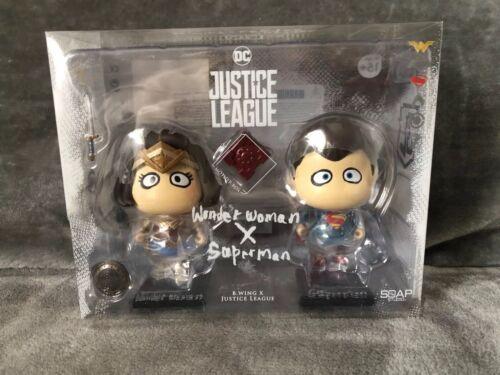 dc justice league figures  Wonder Woman  X Superman By Soap Studio