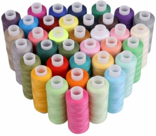 Sewing Machine Embroidery Thread 36 Spools Color Lots Durable Polyester DIY Mend