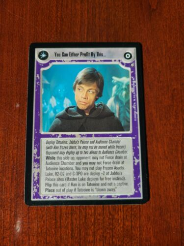 Star Wars SWCCG You Can Either Profit By This Or Be Destroyed EN Jabba/'s Palace