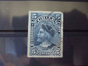 CHILE-5-CENTAVOS-1900-DARK-BLUE-STAMP