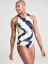 Details about  /ATHLETA XL Tie Dye High Neck Tankini Top 40D 40DD Blue Active Swim Bathing Suit