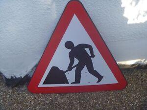 Men At Work Sign....Great Display,Man Cave,Prop,Shop.Bar Or Use!!..75cm x 85cm