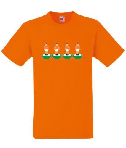 Subbuteo Back Four Blackpool Orange T-SHIRT ALL SIZES