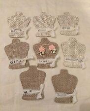 100 Burlap EARRING DISPLAY CARDS, earrings cards, jewelry holder
