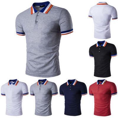 Nouveau Polo Homme Elegant Slim Fit Coton Manches Courtes Casual T-shirt Tee ete