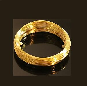 20 Ga Solid Brass Wire (100 Ft. Coil ) SOFT Craft & Wire Wrapping USA