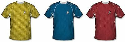 T Shirt Poly Sublimation Star Trek Movie Uniforms Command Science Engineering