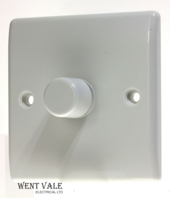Ma Varilight 1-Gang 2-Way Push-On//Off Rotary LED Dimmer Light Switch 1 x 0-100W