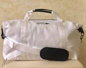 1025b3fba38 La foto se está cargando Unisex-LaCoste -Bolsa-De-Lona-Gimnasio-Viajes-Weekender-