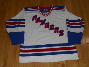 Vintage 1990s Starter White NEW YORK RANGERS Mens Stitched NHL Team ... 251b4bb927ed