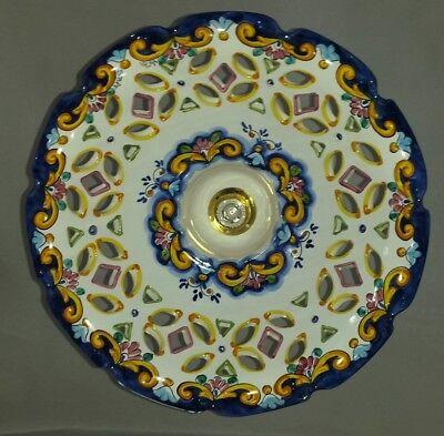 Lampadario Ceramica Di Vietri.Lampadario Sospensione Cucina Decorato Ceramica Di Vietri 45cm