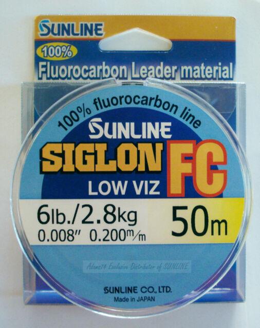 5945 Sunline Siglon FC Fluorocarbon Ligne 50m 38lb Diameter 0.55 mm