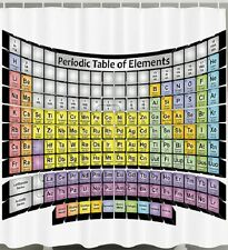 Periodic table elements phd gifts chemistry science lover fabric periodic table elements fabric shower curtain chemistry study school bath decor urtaz Image collections