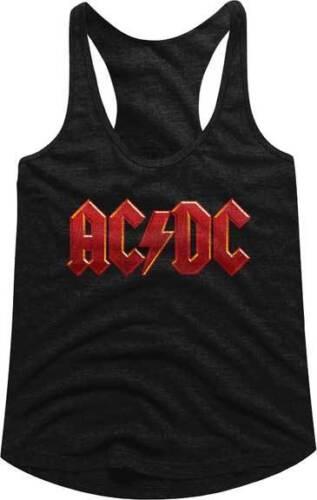 Ac//Dc Rotes Logo Damen Tank Schlaf Shirt-Metall Music