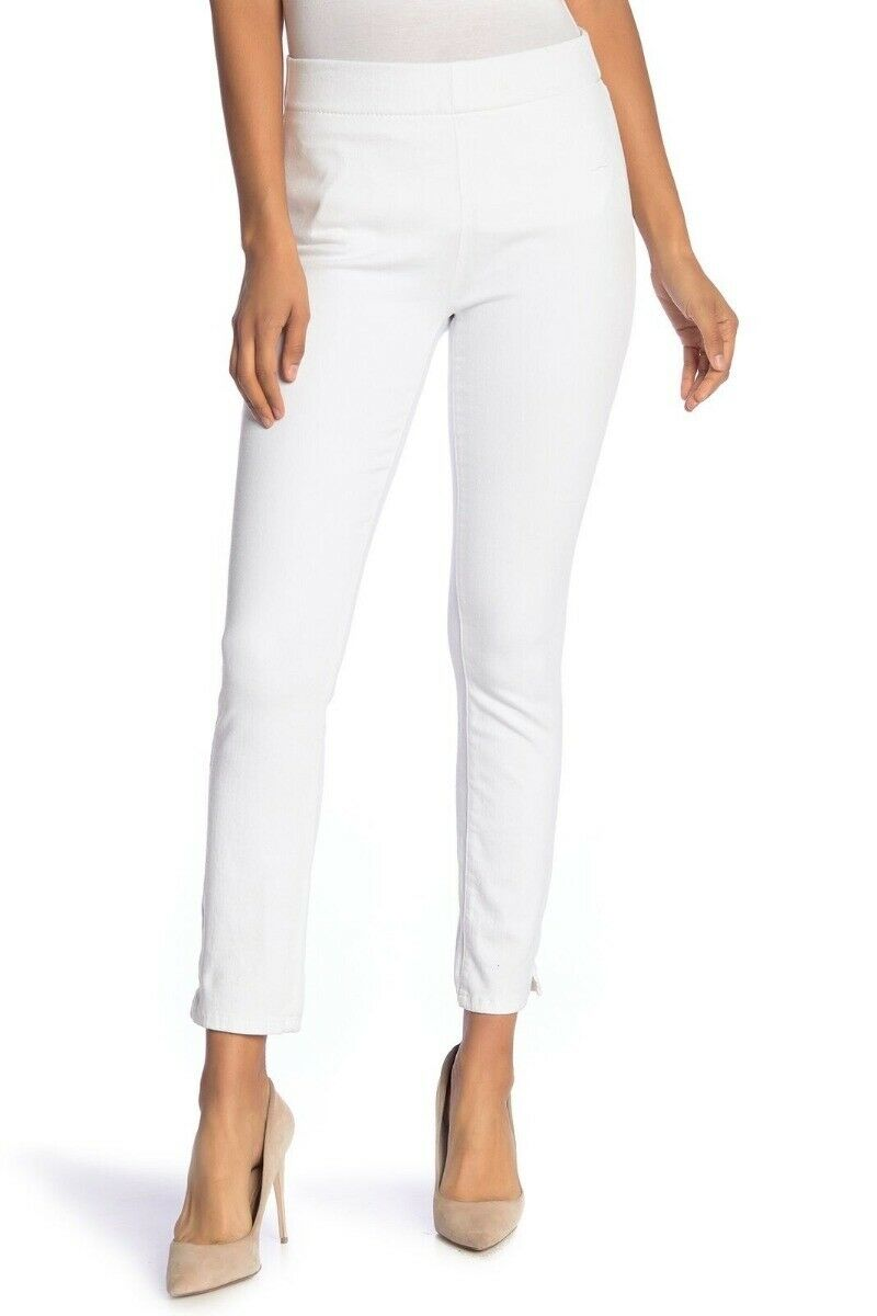 NYDJ Alina Pull On Stretch Ankle Skinny Jeans Endless White 12P NWT