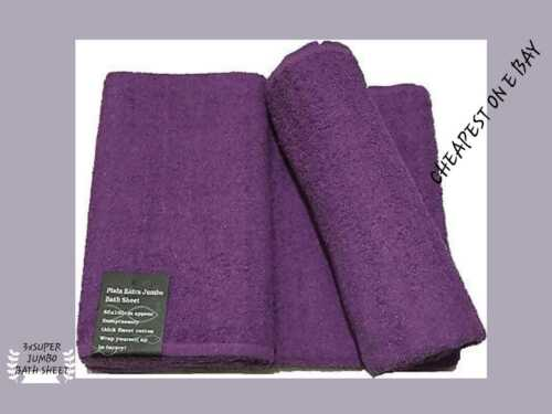 Pack Of 3 100/% Cotton Super  Large Big Bath Sheets Soft Stylist Luxury thicker