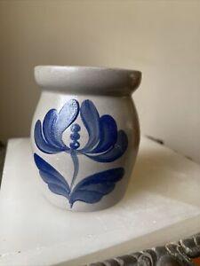 Beaumont Brothers Pottery Salt Glaze Pottery Stoneware Crock 1992