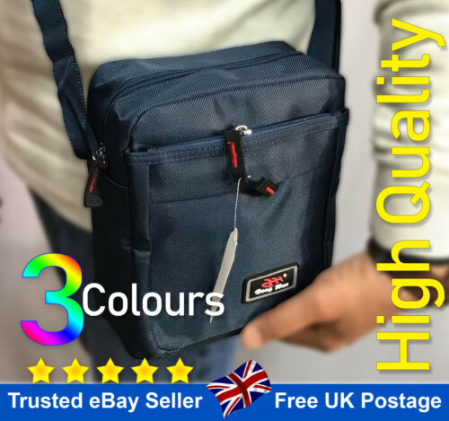 Men Women Shoulder Bag Messenger Cross Body Travel Work Canvas Medium Size