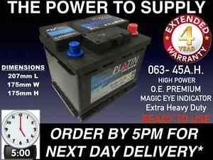 Nissan Micra Car Battery 063 12v Extra Heavy Duty Maintenance Free