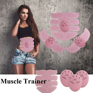 Abdominale-tonifiant-muscle-trainer-Toner-ABS-Smart-Stimulateur-EMS-Fitness-Ceinture-rose