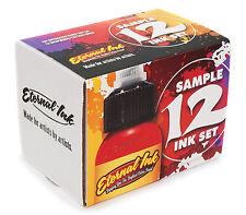 100% Auténtico serie de muestra de Tinta tatuaje eterno 12 X 1oz botellas Reino Unido Proveedor