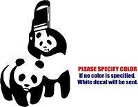 Vinyl Decal Sticker - Wwf Panda Chair Car Car Truck Bumper Window Jdm Fun 12