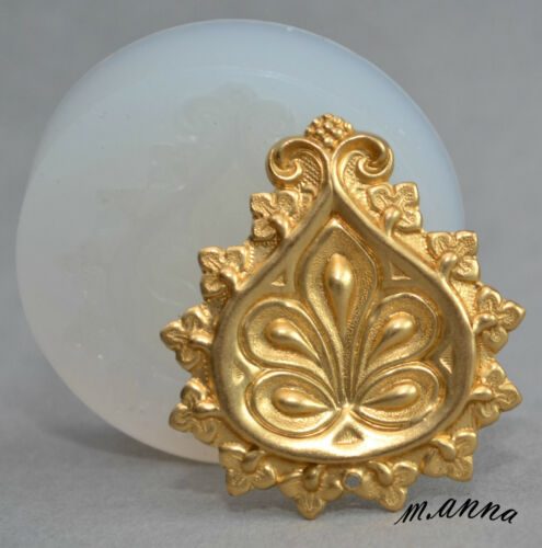 CELTIC FLORAL ORNAMENT SILICONE MOULD POLYMER CLAY FIMO RESIN SUGARCRAFT MOLD