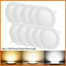 10pcs 12W Round LED Recessed Ceiling Panel Down Lights Bulb Lamp For Indoor Home
