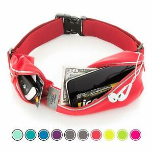 Sport2People-Running-Belt-Water-Resistant-Workout-Waist-Fanny-Pack-Red