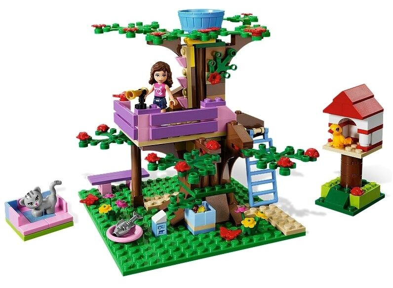 Lego Friends 3065 Olivia's Tree House Bird Cat Cat Cat Fish Flowers Butterfly NISB RARE  a2fb22
