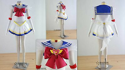 Cosplay Sailor moon Tsukino Usagi Kleider Costumes Kostüm 8 Teile Neu
