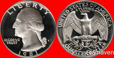 1981 S Proof George Washington Quarter Dp Cameo Combined Shipping With Capsule