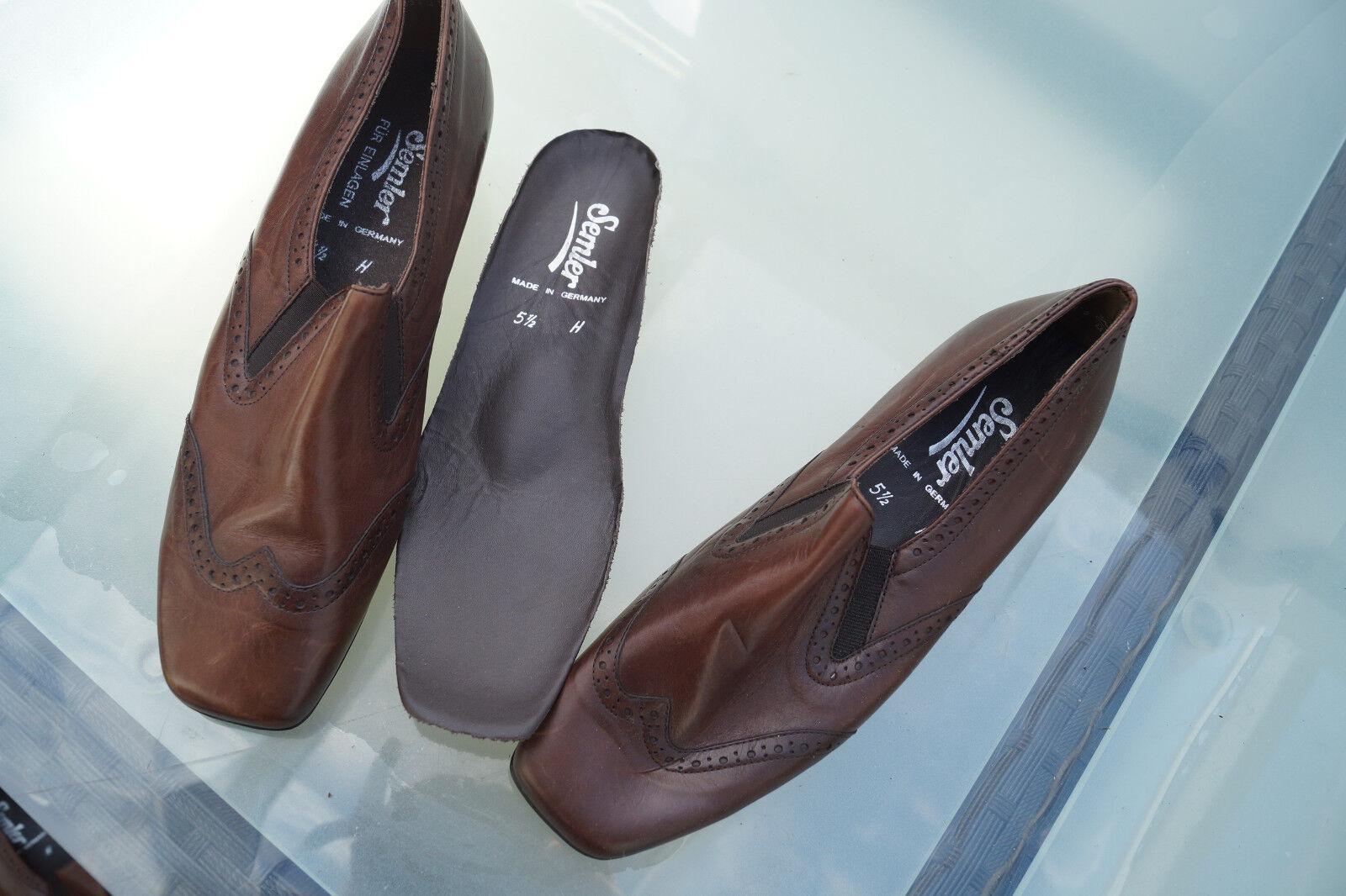 schicke SEMLER Damen Comfort Schuhe Pumps Leder m braun Einlagen Gr.5,5 H 39 braun m Neu a10bfc