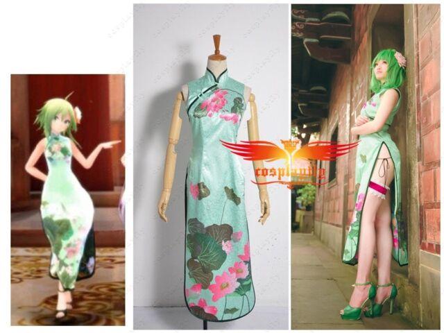 Vocaloid HurlyBurly GUMI Flower Printed Cheongsam For MTV Cosplay Costume