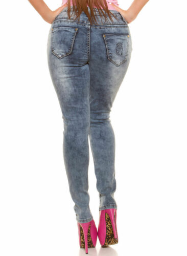 Women/'s Curvy Girl Plus size Ripped Stretch Skinny jeans sizes Approx UK 10-20