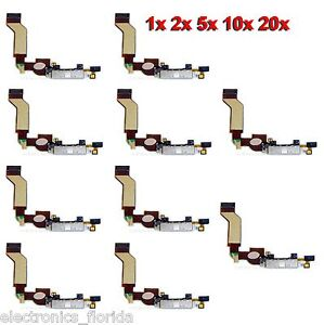 * LOT Charging Dock Port Connector Flex Cable for Iphone 4S Charger White b247