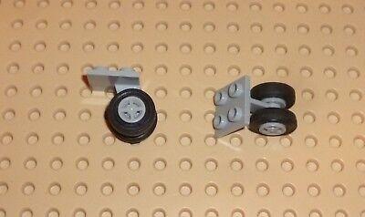 Plate TW20 4870c03 LEGO Modified 2 x 2 Thin w// Dual Wheel LIGHT B GREY x2