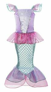 Ariel-Dress-Mermaid-Tail-Dresses-for-Kids-Girl-Princess-Party-Cosplay-Costume