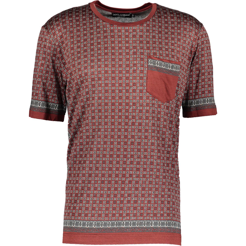 50% OFF Genuine DOLCE & GABBANA 60% Silk Blend T-Shirt IT52 XL 100% luxury