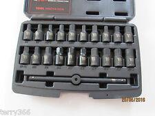 """21pc 3/8"""" drive master / drain / sump plug key set by WELZH WERKZEUG WW4208"""