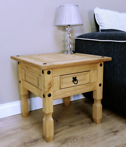 Corona-1-Drawer-Lamp-Table-Side-End-Mexican-Solid-Pine-by-Mercers-Furniture