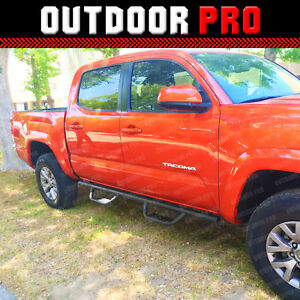 05-20-For-Toyota-Tacoma-Double-Cab-Side-Blk-Steps-Nerf-Bars-Running-Boards